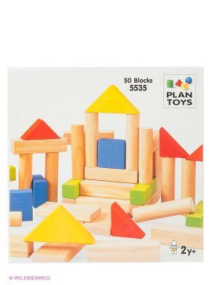 Блоки PLAN TOYS. Цвет: бежевый