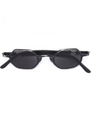 Солнцезащитные очки в восьмиугольной оправе Kuboraum. Цвет: металлический
