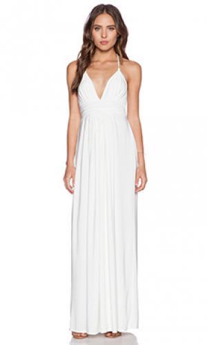 Макси платье T-Bags LosAngeles. Цвет: белый