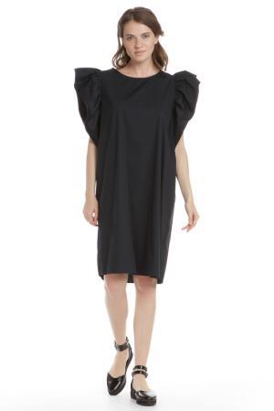 Прямое платье с рукавами Бабочка HANNY DEEP. Цвет: синий