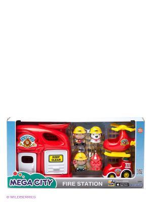 Игровой набор Пожарная станция Keenway. Цвет: бежевый, красный, белый