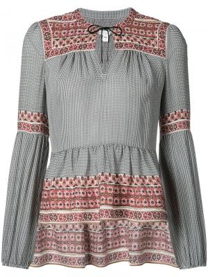 Блуза с баской Veronica Beard. Цвет: чёрный