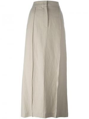 Длинная юбка прямого кроя Ter Et Bantine. Цвет: телесный
