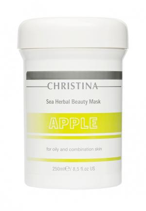 Яблочная маска красоты Christina. Цвет: белый