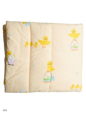 Одеяло детское шатель синтепон Ивбэби. Цвет: персиковый