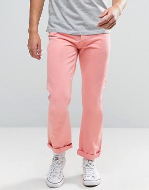 Tommy Jeans Розовые прямые джинсы в стиле 90-х M17. Цвет: розовый
