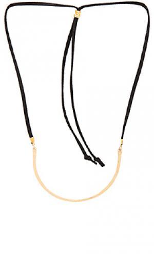 Ожерелье bryce Mimi & Lu. Цвет: черный