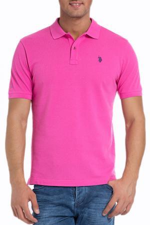 Футболка-поло U.S. Polo Assn.. Цвет: mr0180 розовый