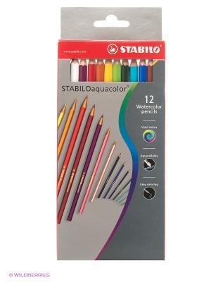 Набор цветных карандашей Stabilo. Цвет: серый