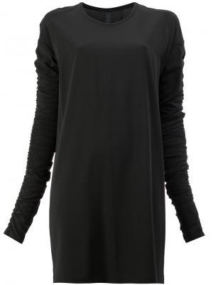 Платье с присборенными рукавами Ilaria Nistri. Цвет: чёрный