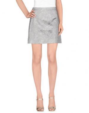 Мини-юбка LULU & CO. Цвет: светло-серый