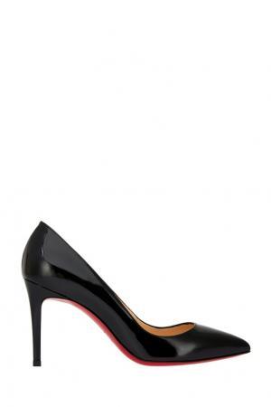 Кожаные туфли Pigalle 85 Christian Louboutin. Цвет: черный