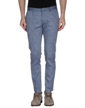 Повседневные брюки DAVID NAMAN. Цвет: синий