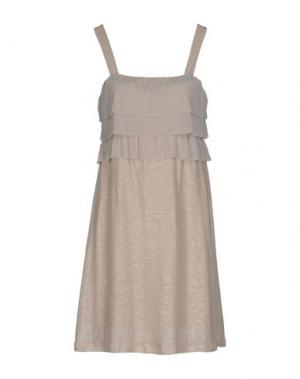 Короткое платье JUST FOR YOU. Цвет: бежевый