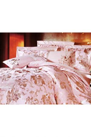 Постельное белье Евро - 4 нав. ТекСтильный Каприз. Цвет: розовый