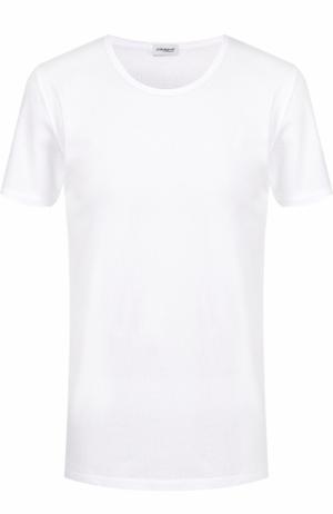 Хлопковая футболка с круглым вырезом Zimmerli. Цвет: белый