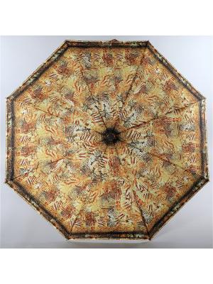 Зонт Trust. Цвет: желтый, темно-коричневый, терракотовый