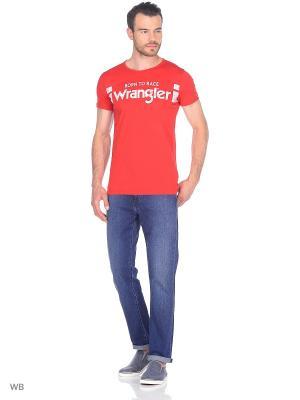 Футболка Wrangler. Цвет: красный