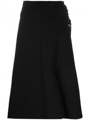 Расклешенная юбка миди Carven. Цвет: чёрный