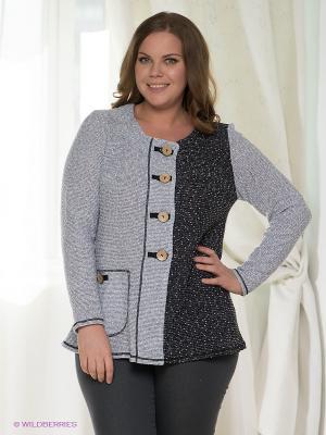 Жакет Milana Style. Цвет: светло-серый, черный
