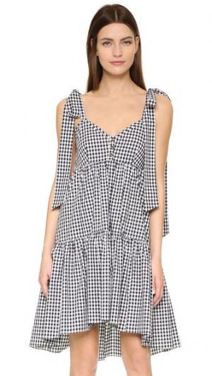 Платье Elle Caroline Constas. Цвет: серый