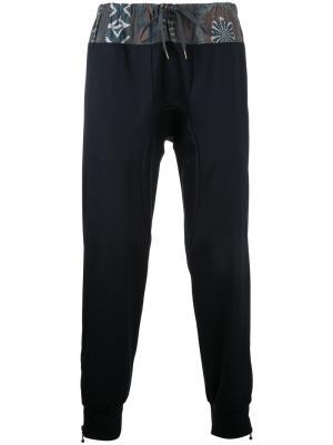 Спортивные брюки с цветочным принтом Kolor. Цвет: синий