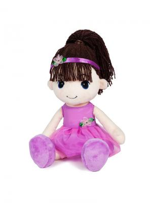 Кукла Стильняшка Брюнетка, 40 см MAXITOYS. Цвет: бежевый, красный, черный, зеленый, темно-коричневый, сиреневый