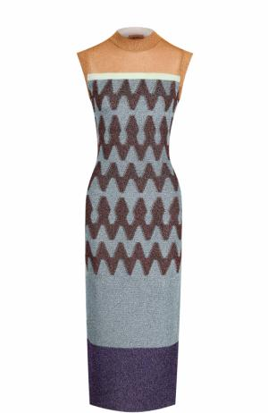 Вязаное платье-миди без рукавов Missoni. Цвет: разноцветный