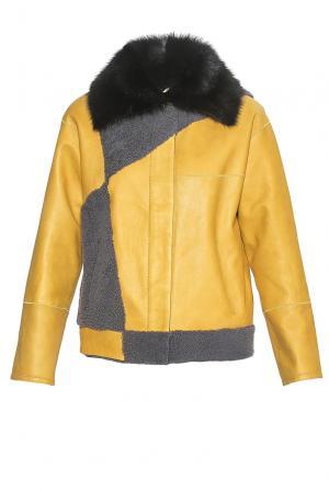 Дубленка 181537 Mondial. Цвет: желтый