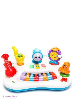 Развивающая игрушка Пианино Рок-банда Kiddieland. Цвет: белый, голубой, красный, оранжевый, желтый