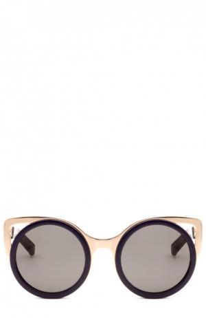 Солнцезащитные очки Erdem. Цвет: черный