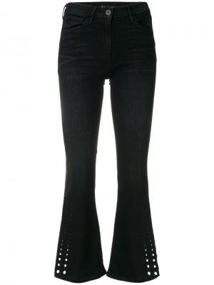 Укороченные расклешенные джинсы 3X1. Цвет: синий
