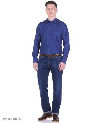Рубашка Boston Brothers. Цвет: темно-синий