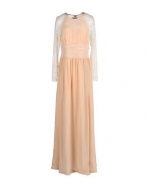Длинное платье BDBA. Цвет: розовый