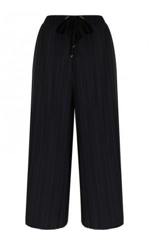Укороченные плиссированные брюки Mother Of Pearl. Цвет: темно-синий