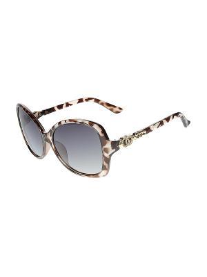 Солнцезащитные очки Happy Charms Family. Цвет: коричневый, бежевый, серый
