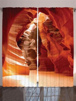 Комплект фотоштор Оранжевые тона в природе, 290*265 см Magic Lady. Цвет: бежевый, красный, желтый, белый, черный, темно-коричневый, коричневый