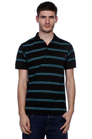 Поло  Pop Your Collar Striped Black Enjoi. Цвет: черный