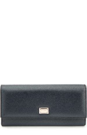 Кожаный кошелек с тиснением Dauphine Dolce & Gabbana. Цвет: темно-синий