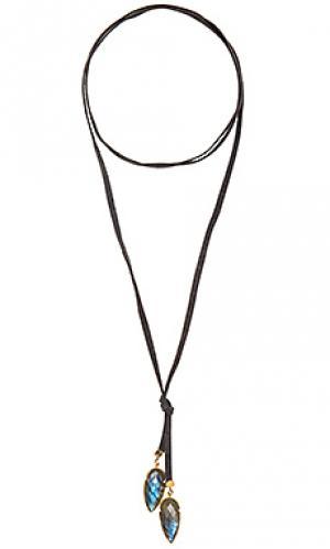 Ожерелье labradorite Jacquie Aiche. Цвет: серый