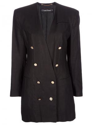 Двубортный удлинённый пиджак Louis Feraud Vintage. Цвет: чёрный