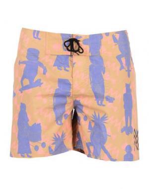 Пляжные брюки и шорты SORT OF LOOSER. Цвет: верблюжий
