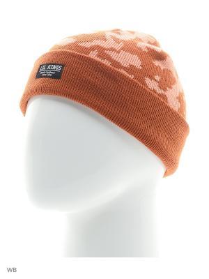 Шапка Camolk LIL KINGS. Цвет: оранжевый, розовый