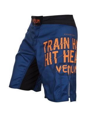 Шорты ММА Venum Train Hard Hit Heavy Blue. Цвет: синий