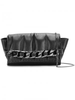 Маленькая сумка на плечо Angelica Glove Elena Ghisellini. Цвет: чёрный