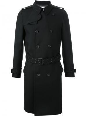 Двубортное пальто Hl Heddie Lovu. Цвет: чёрный
