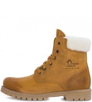 Коричневые ботинки с овечьей шерстью Panama Jack. Цвет: коричневый
