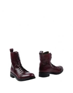 Полусапоги и высокие ботинки LILIMILL. Цвет: красно-коричневый