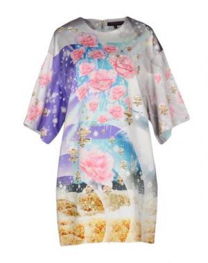 Короткое платье MANISH ARORA. Цвет: светло-серый