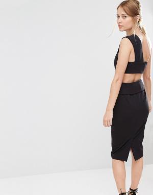 Finders Keepers Платье-футляр с отделкой сзади. Цвет: черный